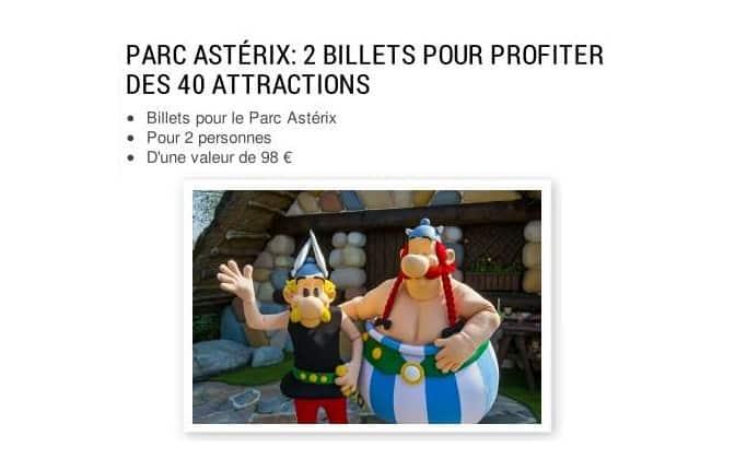 2 tickets pour le Parc Astérix à gagner