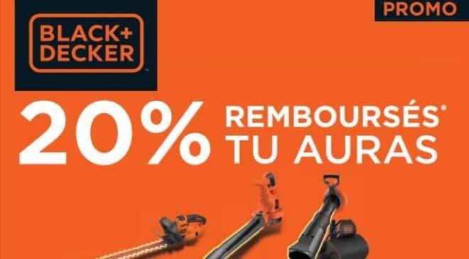 20% de remboursement sur les outils de jardin Black & Decker