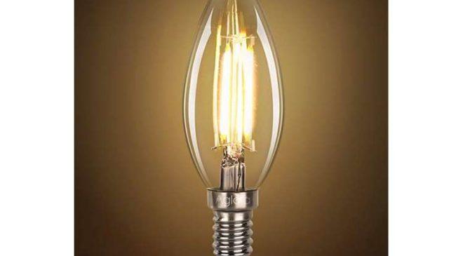 5 ampoules à filament LED flamme Aglaia