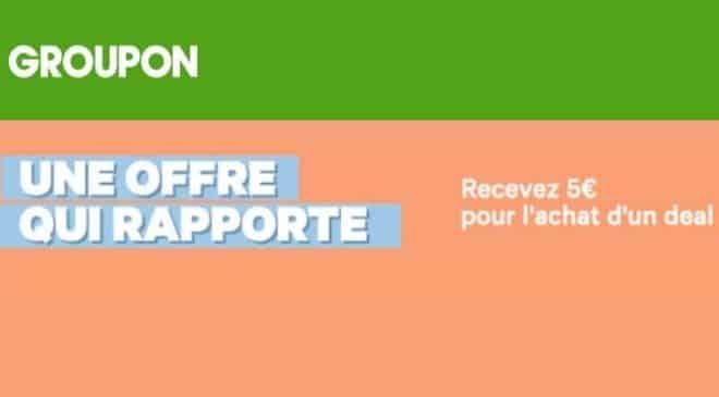 5€ de crédits Groupon gratuit