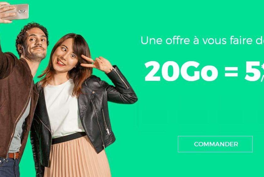 5€ le forfait RED SFR 20Go à VIE