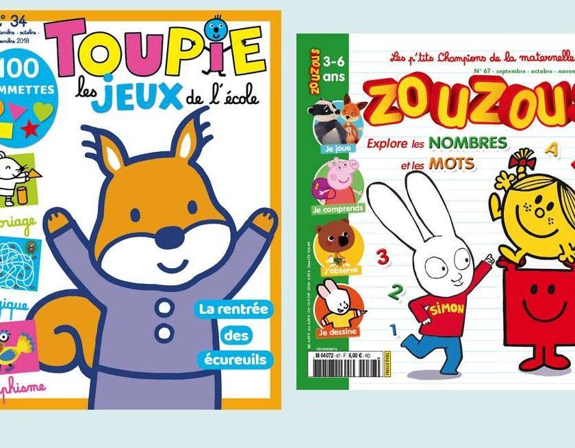 Abonnement magazines Zouzous et Toupie Jeux pas cher