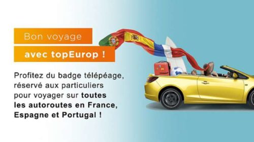 Badge télépéage topEurop sans engament à 5€