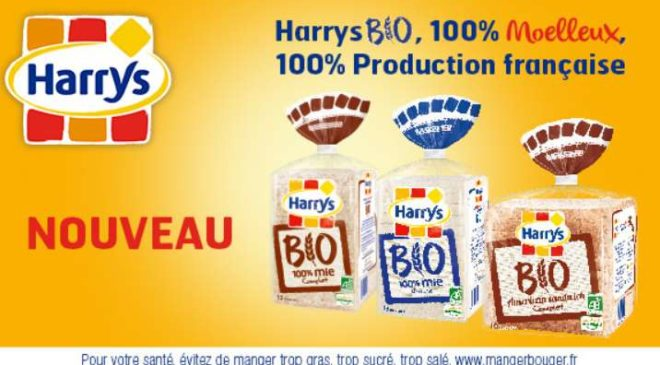Coupon de réduction Harrys Pain de mie BIO à imprimer
