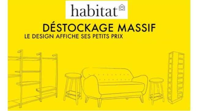 d stockage de fin de saison habitat canap s mobilier d coration luminaire moins chers. Black Bedroom Furniture Sets. Home Design Ideas