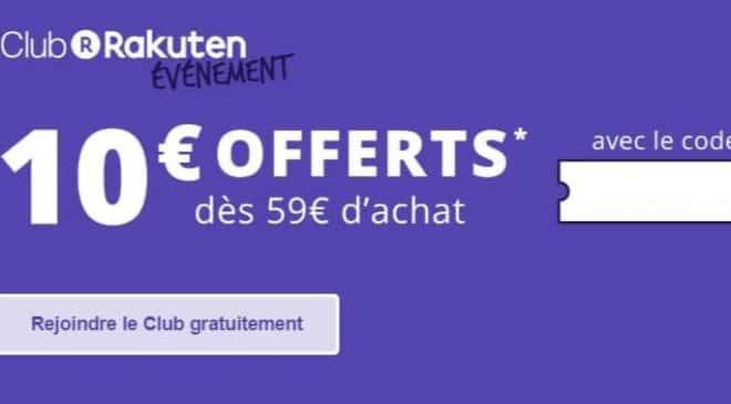 Rakuten Day 10€ de remise dès 59€