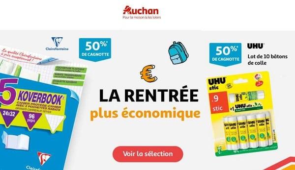 Rentrée Des Classes Auchan Jusqu'à 50% De Crédit Sur La Carte Auchan