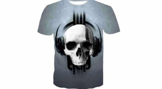 T-shirt homme King Leoric Rock 3D pas cher