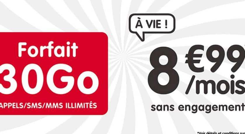 Vente flash forfait spécial 30Go NRJ Mobile à 8,99€
