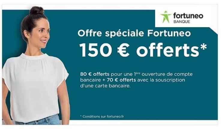 Vente privée Fortuneo 150€ offerts si ouverture d'un compte