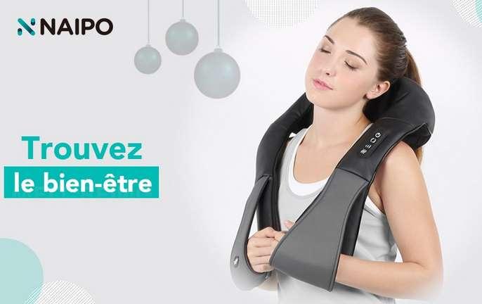 appareil de massage chauffant Naipo pour cervicale, dos, jambes, lombaires