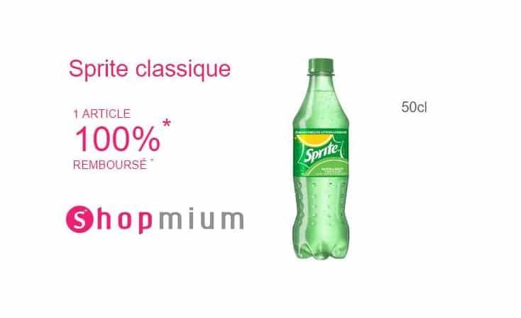 bouteille de Sprite GRATUITE Shopmium