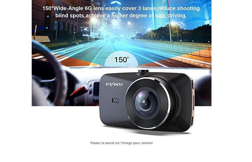 45 99 cam ra de voiture dashcam full hd vision nocturne grand angle d tecteur mouvement aukey. Black Bedroom Furniture Sets. Home Design Ideas