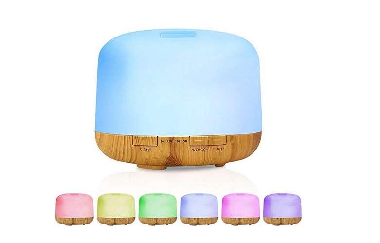 diffuseur huile essentielle et aromatique avec télécommande et lumineux Decdeal