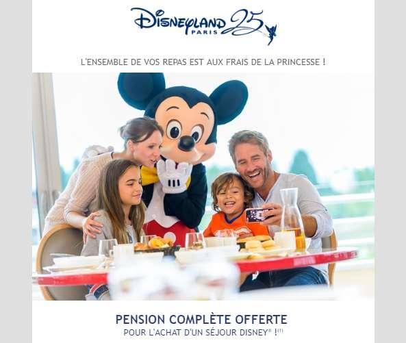 la pension complète gratuite chez Disneyland