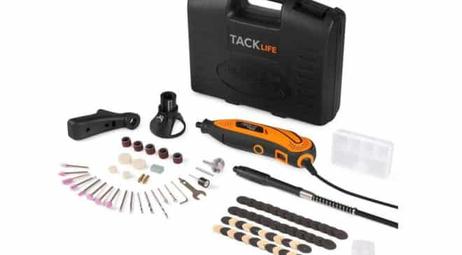 outil multifonctions rotatif Tacklife pas cher 80 accessoires RTD35ACL