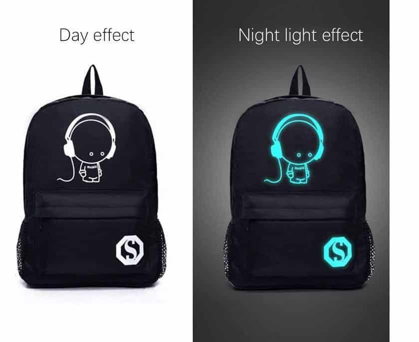 sacs à dos phosphorescents visibles la nuit paas chers