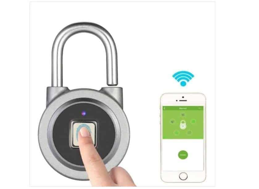 smart - cadenas sans clé ni code ouverture avec empreinte digital