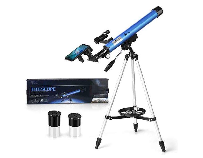 télescope astronomique Telmi x30 x40 avec trépied et porte-téléphone