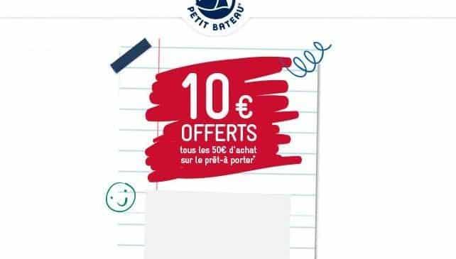10€ de remise sur Petit Bateau