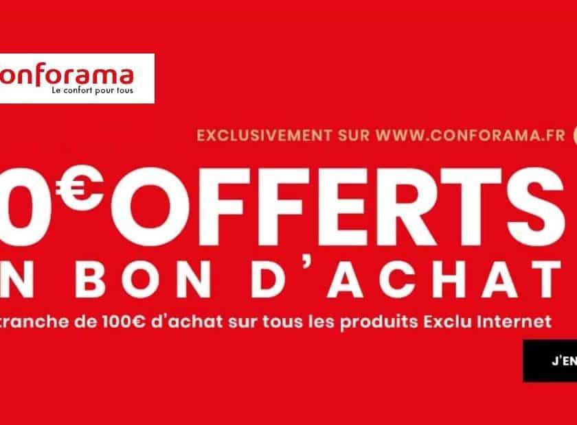 10€ offerts tous les 100€ sur Conforama