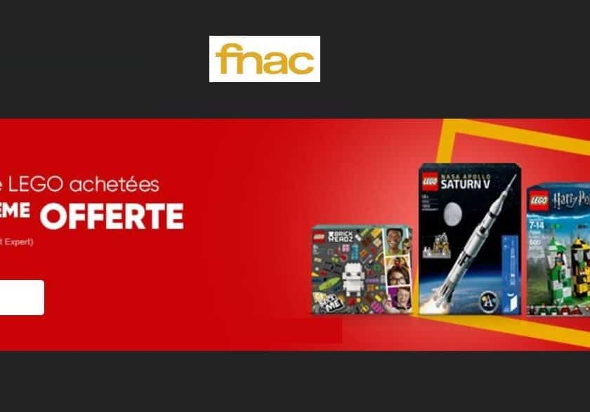 2 boites de Lego achetées troisième gratuite sur la FNAC