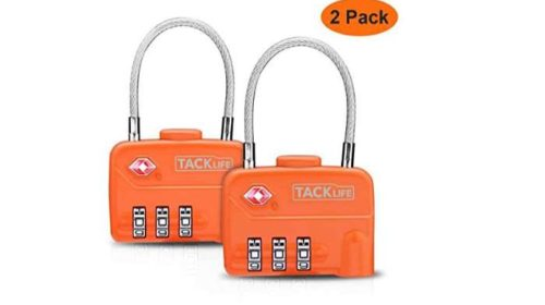 2 cadenas de bagages à combinaison Tacklife approuvés TSA