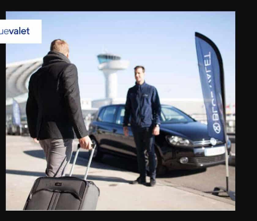 20% de remise sur Blue Valet voiturier aéroports et gares