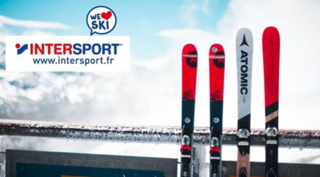 50% de remise sur Intersport location de skis