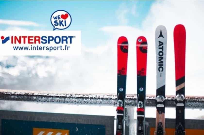 50% de remise sur Intersport location de skis