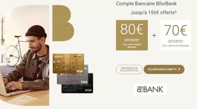 BforBank Days 150€ offerts pour l'ouverture d'un compte