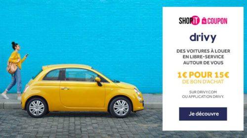 Bon d'achat Rosedeal Drivy location de véhicule