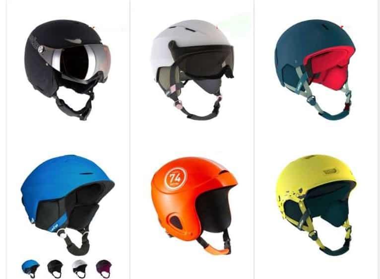 Bonnes affaires casques de ski en déstockage sur Decathlon