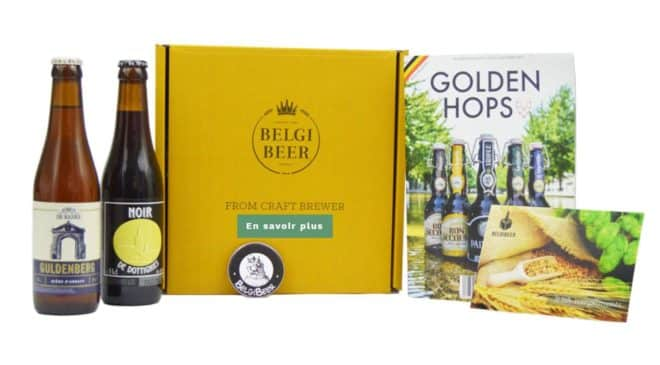 Box Belgibeer découverte 2 bières, décapsuleur, livret, carte