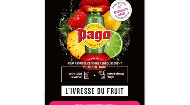 Buvez un jus Pago dans un bar, restaurant ou café gratuitement