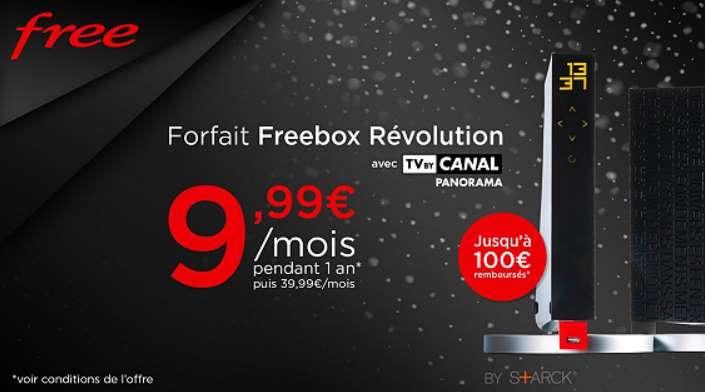Freebox Révolution avec TV by CANAL