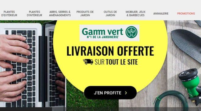 Livraison gratuite sur Gamm Vert