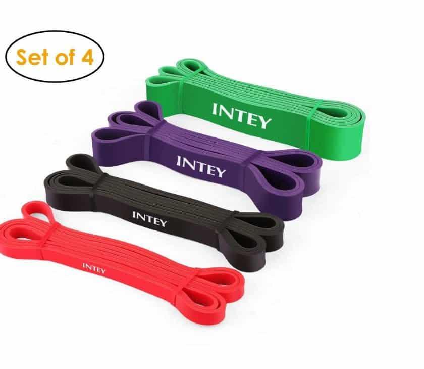 PROMOTION kit de 4 bandes de résistance pour Fitness INTEY