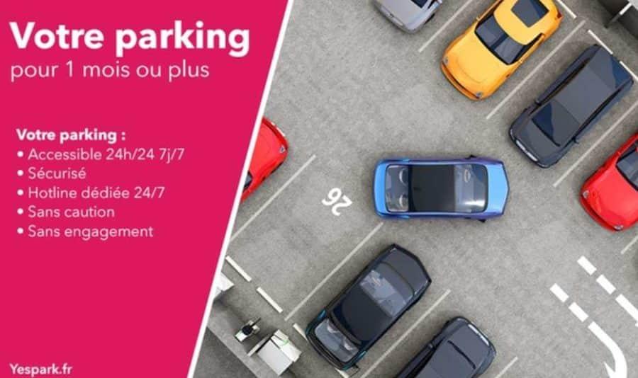 parking moins cher bon d achat yespark d une valeur de 60 au prix de 30. Black Bedroom Furniture Sets. Home Design Ideas