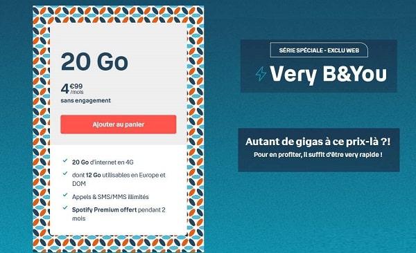série spéciale forfait b&you 20go à 4,99€ mois