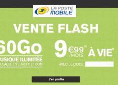 Vente flash La Poste Mobile ! 9,99€ forfait 60Go A VIE (tout illimité même musique) sans engagement