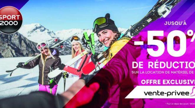 Vente privée SPORT2000 location de matériel de ski