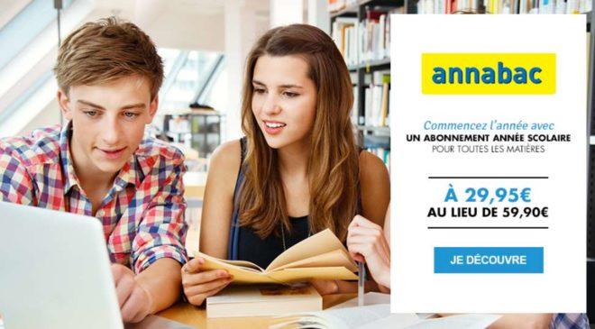 Vente privée soutien scolaire Annabac pas cher