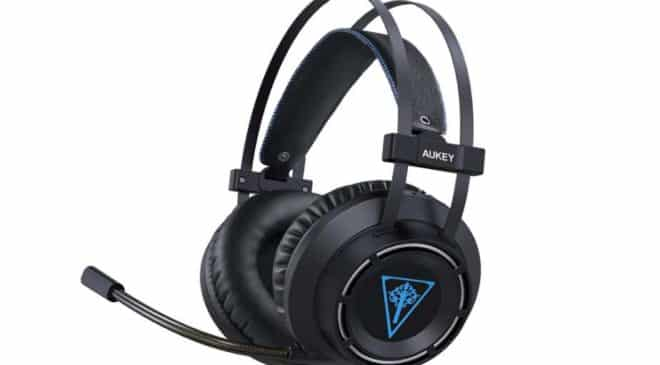 casque gaming avec micro et LED Aukey GH-S6