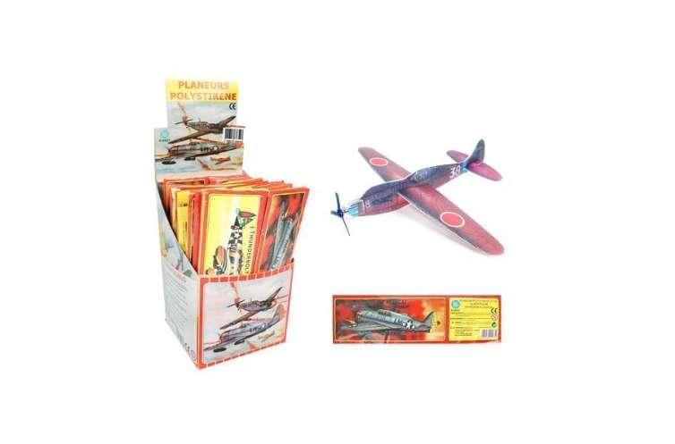 lot de 12 petits avions en polystyrène pas cher