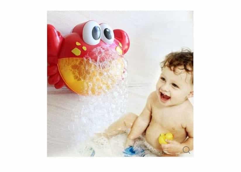 machine à mousse musicale de bain pour enfants Crabe