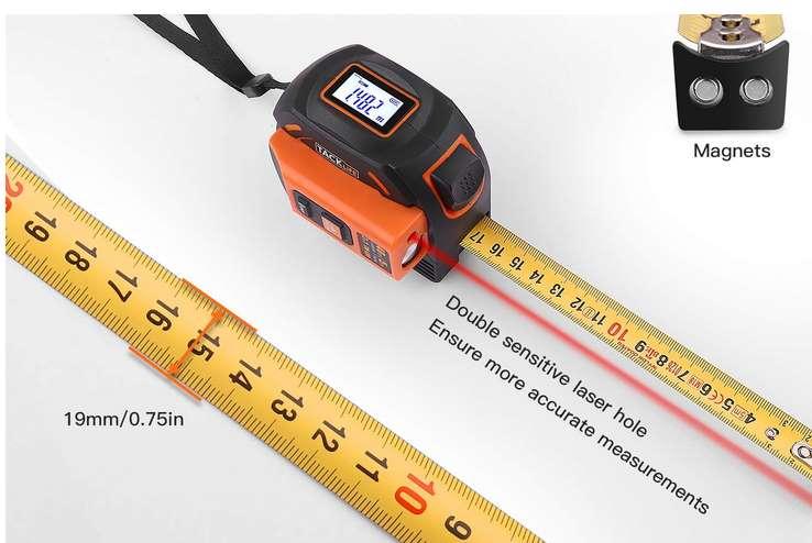 mètre ruban - télémètre laser Tacklife TM-L01 PROMOTION