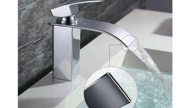 robinet cascade à bec aplati Homelody