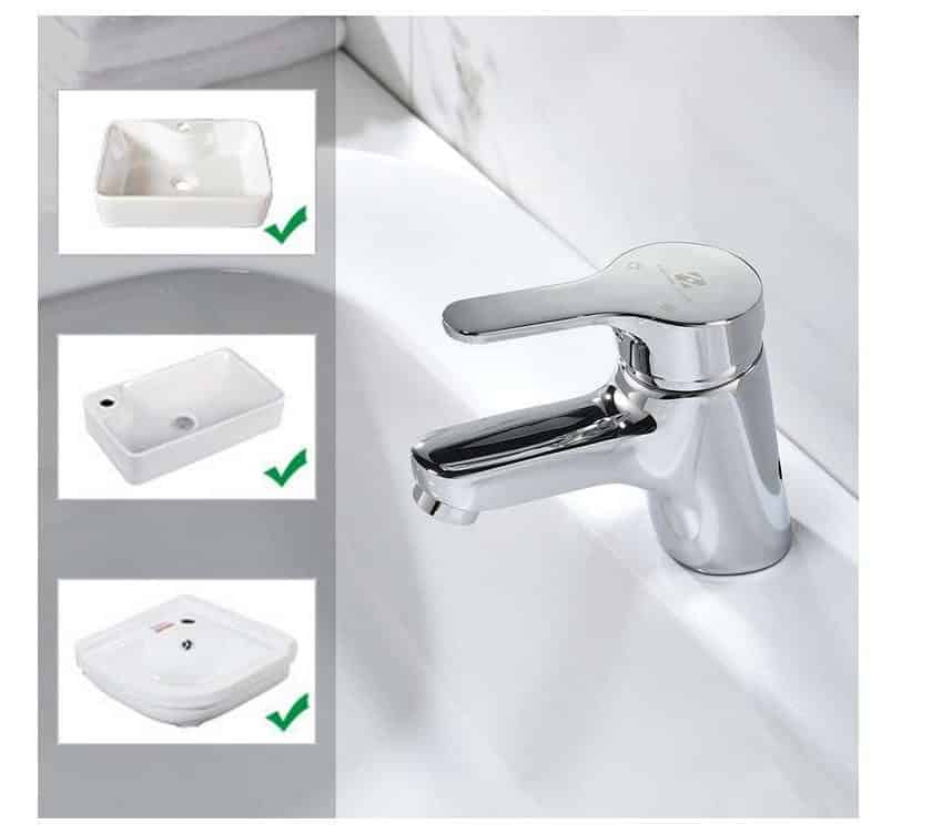 robinet de lavabo chromé Homelody 11cm pas cher