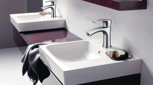 robinet mitigeur de salle de bain chromé Homelody